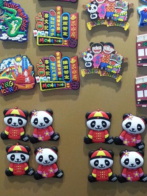 香港で有名なレストランやパンダのマグネット