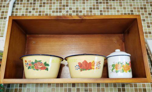 中華レトロな洗面台