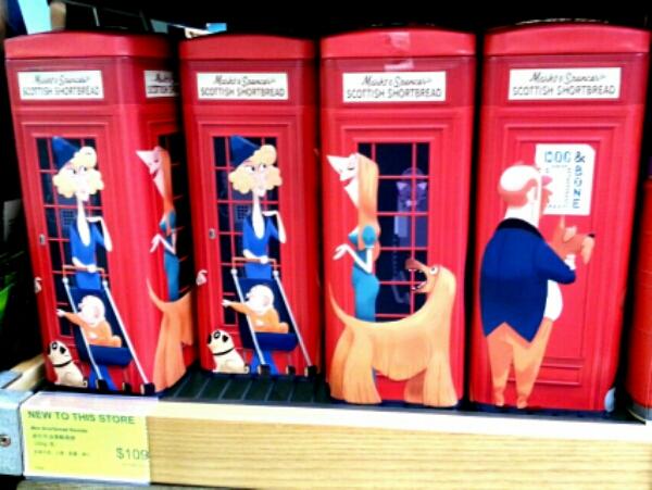電話ボックス缶に入っているお菓子