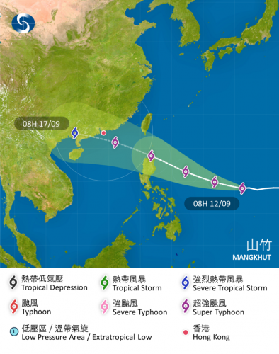 2018年9月のスーパー台風の図