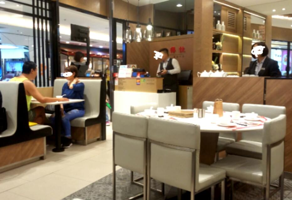 香港中華レストランの店内