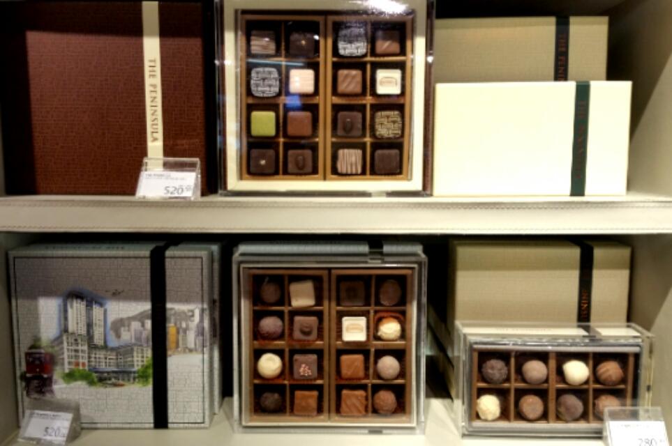 香港ペニンシュラホテルの高級チョコレート
