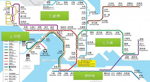 香港コインロッカーと荷物預け場所の地図