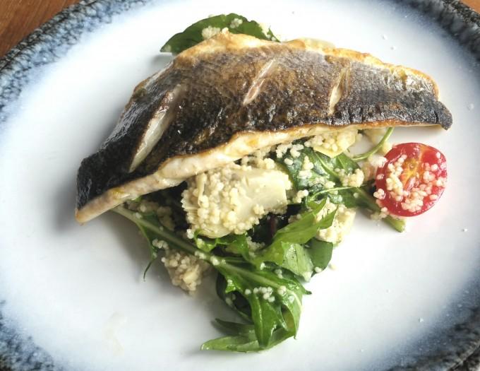 ランチセットの魚
