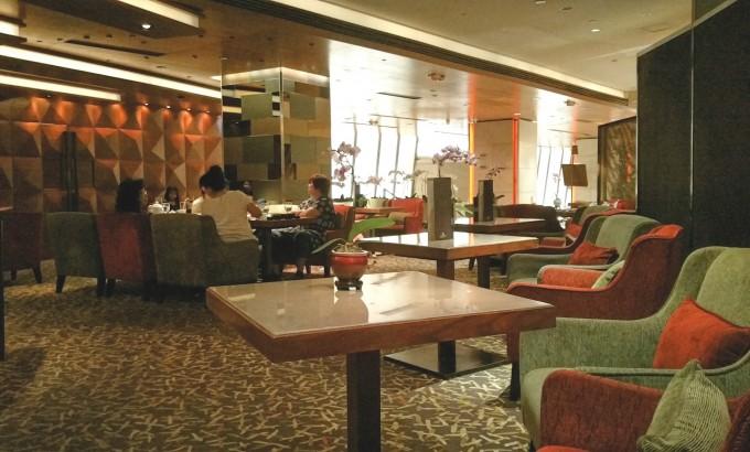 マルコポーロホテル香港のロビーカフェ