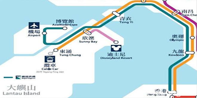 香港エクスプレスの路線マップ