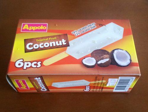 アッポロの箱入りアイスキャンディー