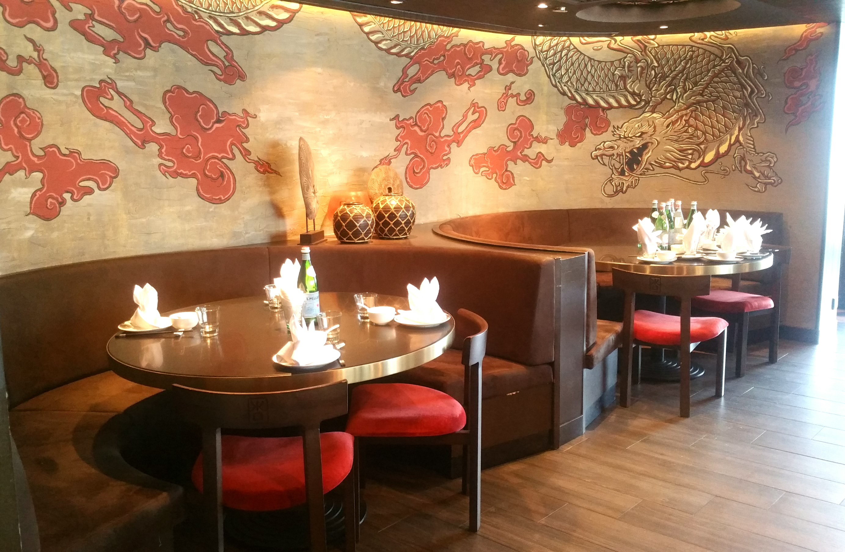 四川料理レストランのインテリア