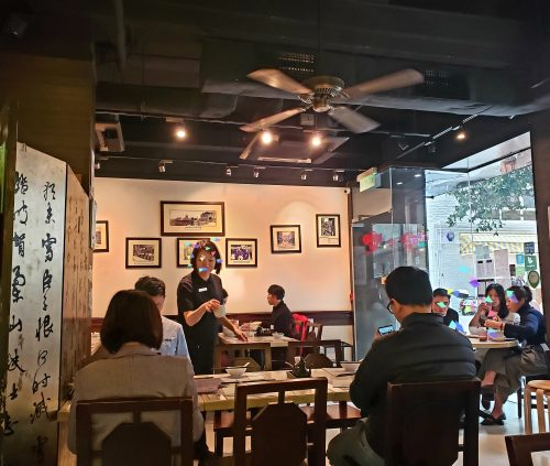 上海料理店の中