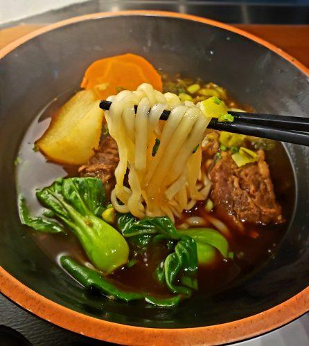 ビーフヌードルのソフト麺
