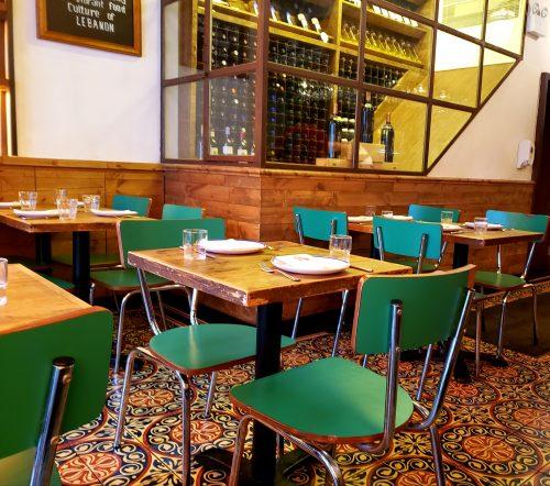 レバノン料理店のインテリア