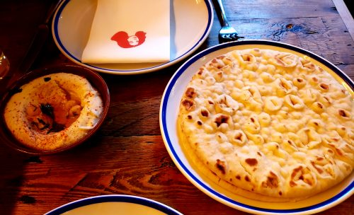 豆ペーストとピタパン