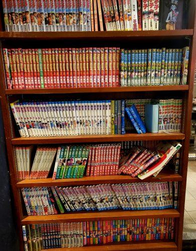 漫画が入った本棚