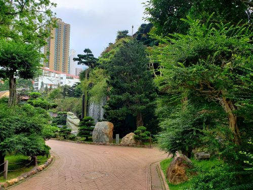 香港お寺の中