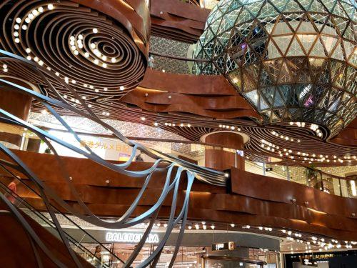 尖沙咀ショッピングモールの天井