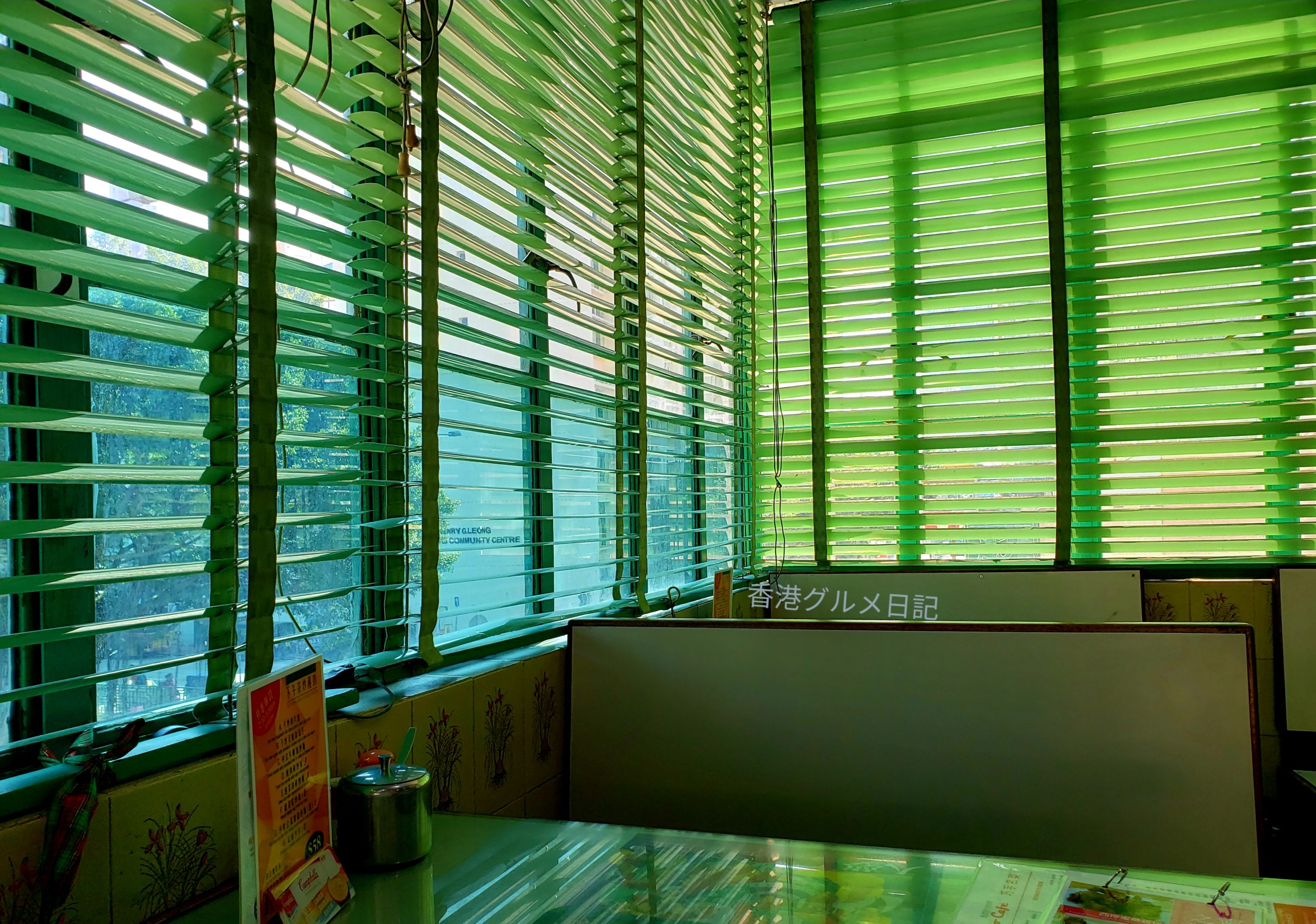 香港レトロカフェのインテリア