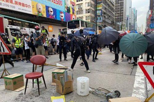5月27日香港デモの写真